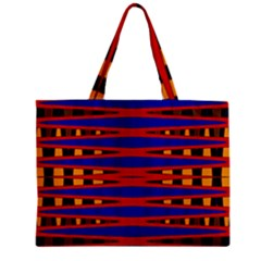 Bright Blue Red Yellow Mod Abstract Mini Tote Bag