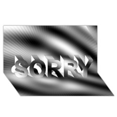 New 12 Sorry 3d Greeting Card (8x4)