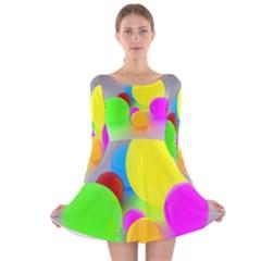 Image Long Sleeve Velvet Skater Dress