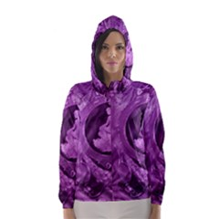 Vintage Purple Lady Cameo Hooded Wind Breaker (women)