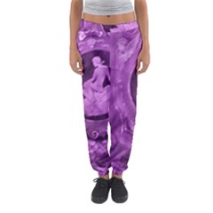 Vintage Purple Lady Cameo Women s Jogger Sweatpants
