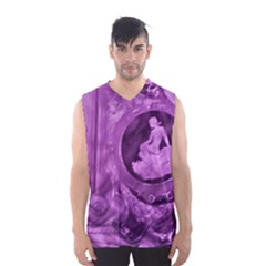 Vintage Purple Lady Cameo Men s Basketball Tank Top