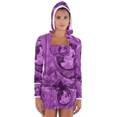 Vintage Purple Lady Cameo Women s Long Sleeve Hooded T-shirt