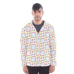 Squares Rhombus And Circles Pattern  Mesh Lined Wind Breaker (men)