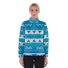 Blue triangles and stripes  Winter Jacket