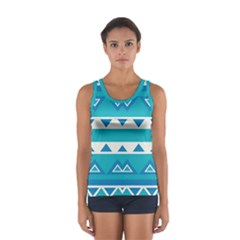 Blue triangles and stripes  Women s Sport Tank Top
