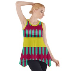 Stripes And Other Shapes   Side Drop Tank Tunic