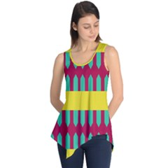Stripes and other shapes   Sleeveless Tunic