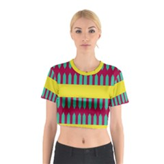 Stripes and other shapes   Cotton Crop Top