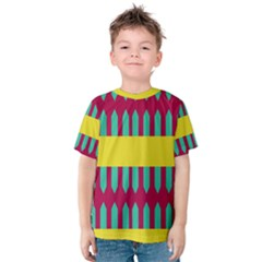 Stripes and other shapes   Kid s Cotton Tee