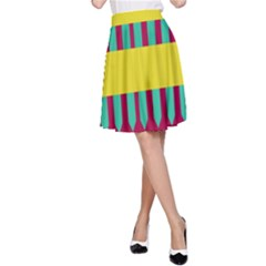 Stripes And Other Shapes   A Line Skirt