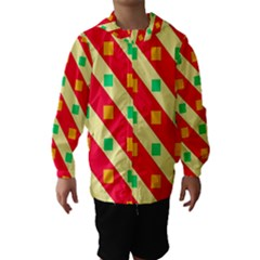Squares And Stripes    Hooded Wind Breaker (kids)