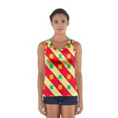 Squares and stripes    Women s Sport Tank Top