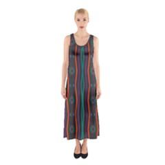Wavy chains pattern     Full Print Maxi Dress