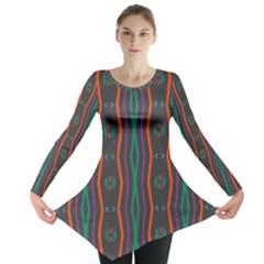 Wavy chains pattern     Long Sleeve Tunic