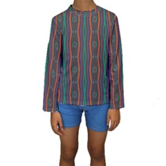 Wavy chains pattern      Kid s Long Sleeve Swimwear