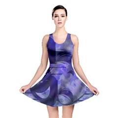 Blue Comedy Drama Theater Masks Reversible Skater Dress