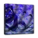 Blue Comedy Drama Theater Masks Mini Canvas 8  x 8  View1