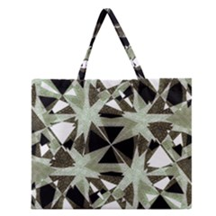 Modern Camo Print Zipper Large Tote Bag