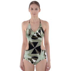 Modern Camo Print  Cut-Out One Piece Swimsuit