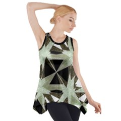 Modern Camo Print  Side Drop Tank Tunic