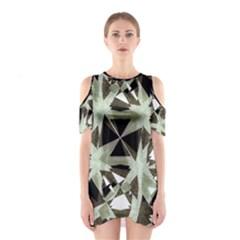 Modern Camo Print  Cutout Shoulder Dress