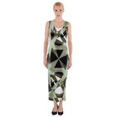 Modern Camo Print  Fitted Maxi Dress