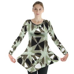 Modern Camo Print  Long Sleeve Tunic