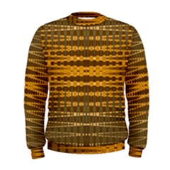 Yellow Gold Khaki Glow Pattern Men s Sweatshirt