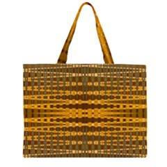 Yellow Gold Khaki Glow Pattern Large Tote Bag