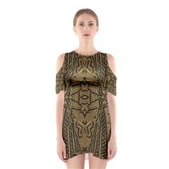 Doodelidei Queen Of Broken Hearts Cutout Shoulder Dress