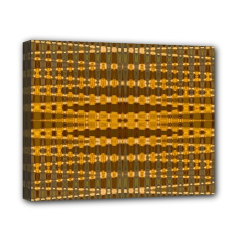Yellow Gold Khaki Glow Pattern Canvas 10  X 8