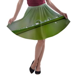 After the rain A-line Skater Skirt