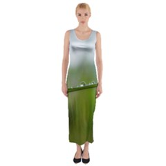 After the rain Fitted Maxi Dress