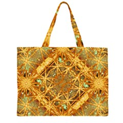 Digital Abstract Geometric Collage Zipper Large Tote Bag