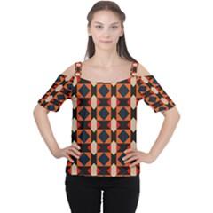 Rhombus and stripes      Women s Cutout Shoulder Tee