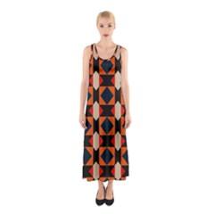 Rhombus And Stripes      Full Print Maxi Dress