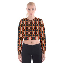 Rhombus and stripes        Women s Cropped Sweatshirt