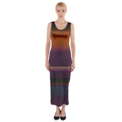 Curvy Stripes       Fitted Maxi Dress