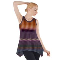 Curvy Stripes       Side Drop Tank Tunic