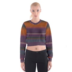 Curvy stripes         Women s Cropped Sweatshirt