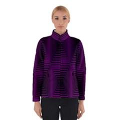 Purple Black Rectangles         Winter Jacket