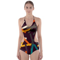 Sticks          Cut Out One Piece Swimsuit