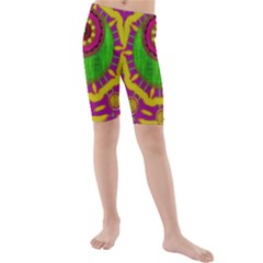 Let The Calm And The Sunshine In Kid s Mid Length Swim Shorts