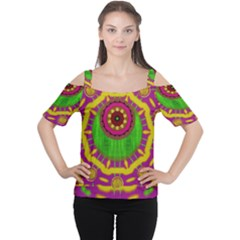 Let The Calm And The Sunshine In Women s Cutout Shoulder Tee