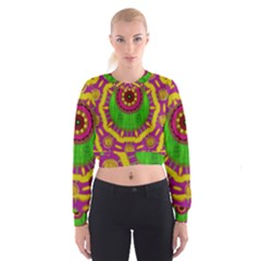 Let The Calm And The Sunshine In Women s Cropped Sweatshirt