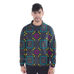 Squares and circles pattern Wind Breaker (Men)
