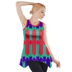 Purple yellow shapes  Side Drop Tank Tunic