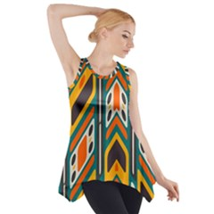 Distorted shapes in retro colors   Side Drop Tank Tunic