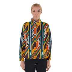 Distorted shapes in retro colors   Winter Jacket